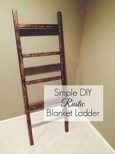 DIY || rustic blanket ladder