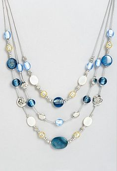 Beatrice Denim Friendly Necklace - AccessoriesChristopher  Banks