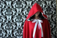Red Riding Hood Cape - Free Pattern through #Craftsy.  So, so cute!