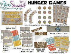 Hunger Games Party Package Printable