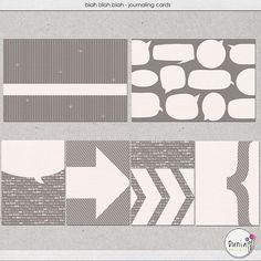 Free blah, blah blah Journaling Cards from Dunia Designs {on Facebook}