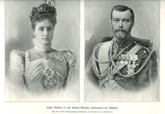 Nicholas II & Alexandra of Russia.  The last of the Romanov Dynasty and the last tsar and tsaritsa of Russia.