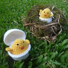 crochet easter, patterns, easter chick