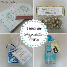 Easy and inexpensive teacher appreciation gifts.