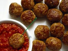 """These are great for salads to eat with pasta sauce.. very versatile! I also added some finely diced celery and 2 tsp chipotle pepper spice for some heat.  Turkey Meatball recipe from """"THE SKINNY RULES: The Simple, Nonnegotiable Principles for Getting to Thin"""" by Bob Harper with Greg Critser."""