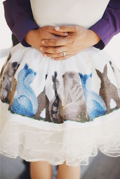 Back of the skirt, is the back of the animals. by raccoonlovers2012, via Flickr