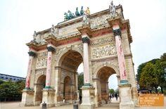 Arc de Triomphe du Carrousel in Paris France