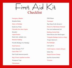 First Aid Kit and Printable Checklist. We all know how often Babe and ...