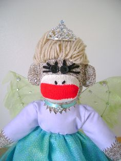 SALE!!!  Fae Lily Queen of the Forest Sock Monkey by DeedleDeeCreations, $25.00