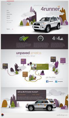 Toyota.com Reimagine Website | Designer: Paul Lee Design | Image 2 of 3