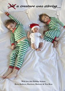 Cute holiday card idea for my friends with kiddos...