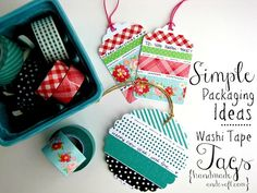 DIY Washi Tape Gift Tags–Simple Packaging Ideas