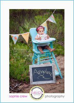 1st birthday pics, high chair, birthday photo, 1 year photos, year pictur, pictur idea, 1st birthday pictures, 1st birthdays, cake smash photo ideas