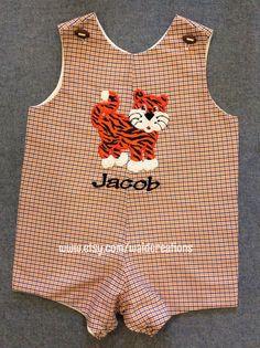Auburn or Alabama inspired baby boy Jon Jon by waidcreations, $45.00