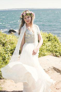 liz + steve   Leona Gown from BHLDN   via: grey likes weddings   #BHLDNbride