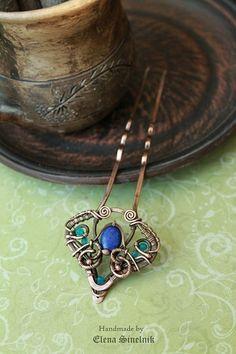 ... , creativ varieti, metal jewelri, wirework pendant, lena sinelnik