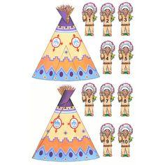 indian art, indian set, american indian, indianen en, thema indianen, indian figur