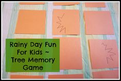 kitchen counter chronicles: Rainy Day Fun For Kids - Tree Memory Game