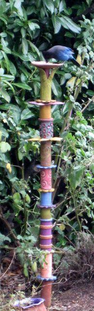 Bird feeder totem
