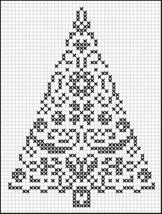 Counted cross stitch Christmas tree.