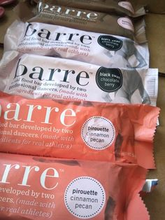 """""""Barre"""" ~ an energy barre developed by dancers!"""