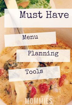 Menu planning DIY. What you should know before you plan your next menu.