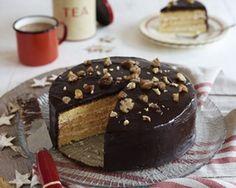 Chestnut and chocolate layer cake recipe chestnut, chocol cake, chocolate recipes, food, layer cakes, chocol layer, jame martin, chocolate cakes, cake recipes