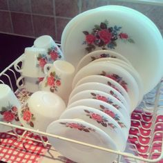 Jaj Rose Pyrex | Sew a little love Blog