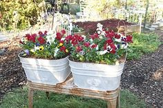 Vintage Wash Tubs as planter