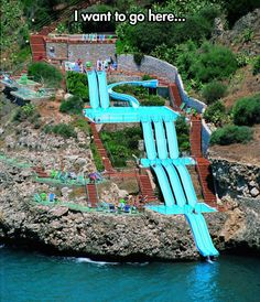 Hotel Citta Del Mare in Sicily, Italy… That's some fancy water slide..........