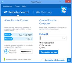 this is the one if Mac & Pc will work      TeamViewer is a free tool that makes it incredibly easy to set and use a VPN connection; a Virtual Private Network that lets you take complete control of another PC from your own computer, whether they're separated by a soda can or a continent (and as long as both machines are running TeamViewer)