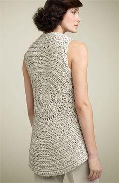 Theory 'Elodie - Cima' Crochet Sweater Vest | crochet sweaters, sweater vest