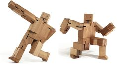 {Cubebot} wood robot! totally awesome!