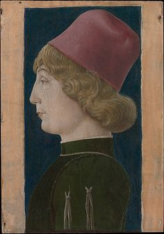 Portrait of a Young Man by  Cosmè Tura - 1470's   Ferrara
