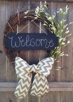 Personalized Floral Wreath with Chalkboard- Summer and Fall wreath