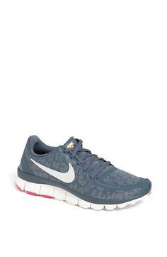 Nike 'Free 5.0 V4' Running Shoe (Women)   Nordstrom - size 7.5 or 8 - dark silver