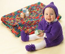 Bright Layettes to Crochet eBook - Leisure Arts
