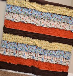 rag quilt with @Riley Moore Moore Blake fabric #scoot