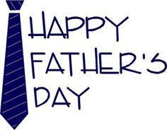 Wish you all a Happy Father's Day in advance