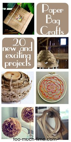 Main Ingredient Monday- Brown Paper Bags-20 new and exciting paper bag crafts and projects for your whole home