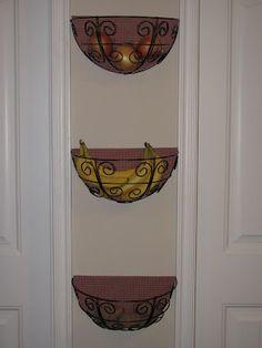 Kitchen Storage - garden planters. Fruit by doorway!