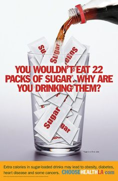 You wouldn't eat 22 packs of sugar. Why are you drinking them? #Inspiration. #Workout #Weight_loss #Fitness