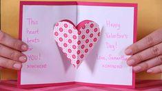 Valentine's Day Heart Pop-up Card