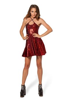 Shattered Ruby Reversible Strap Dress - LIMITED by Black Milk Clothing $80AUD