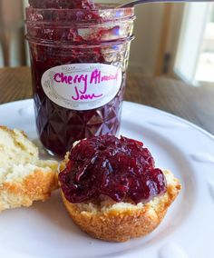 Sour Cherry Almond Jam!!