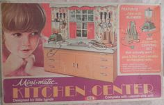 IDEAL: 1970 Mini-Matic Kitchen Center #Vintage #Toys