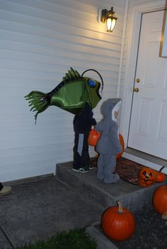 Glowing angler fish costume
