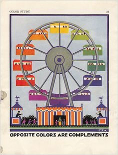 1924 watercolor wheel