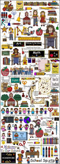 School Graphics by Original Country Clipart by Lisa