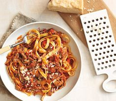 Pasta With Slow-Cooker Pork Ragù recipe
